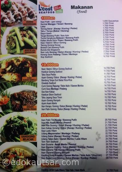 Daftar Menu Makanan