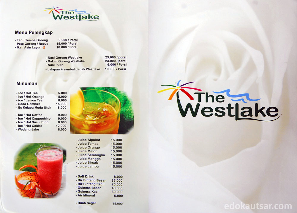 Menu Minuman The Westlake