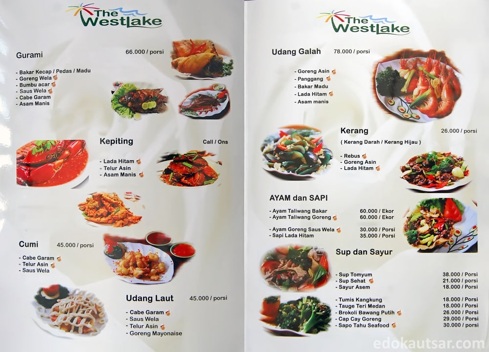 Menu Makanan The Westlake