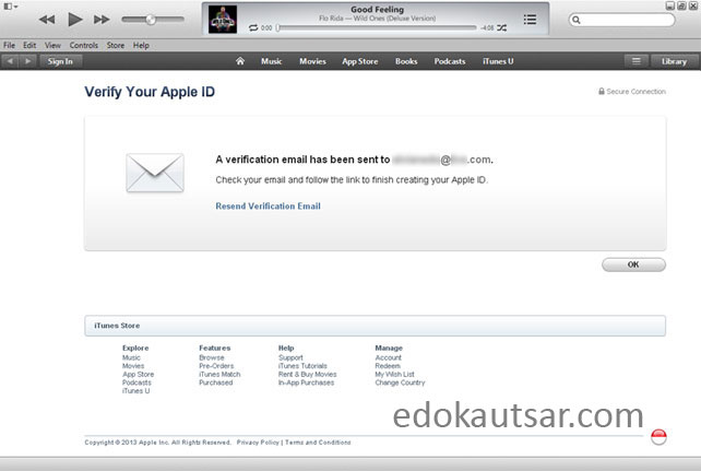 Apple ID tanpa kartu kredit