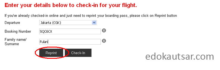 Cetak print web check in air asia