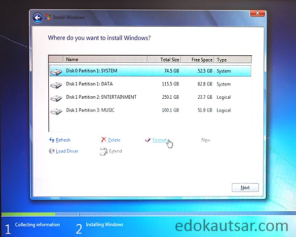 Cara install windows 7 di netbook