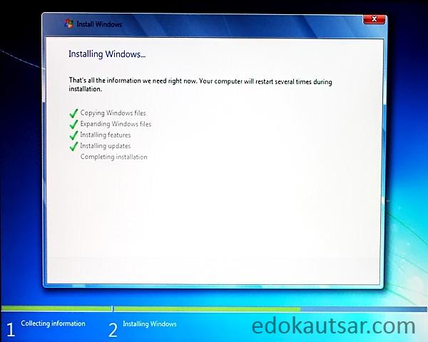 Cara cepat install windows 7