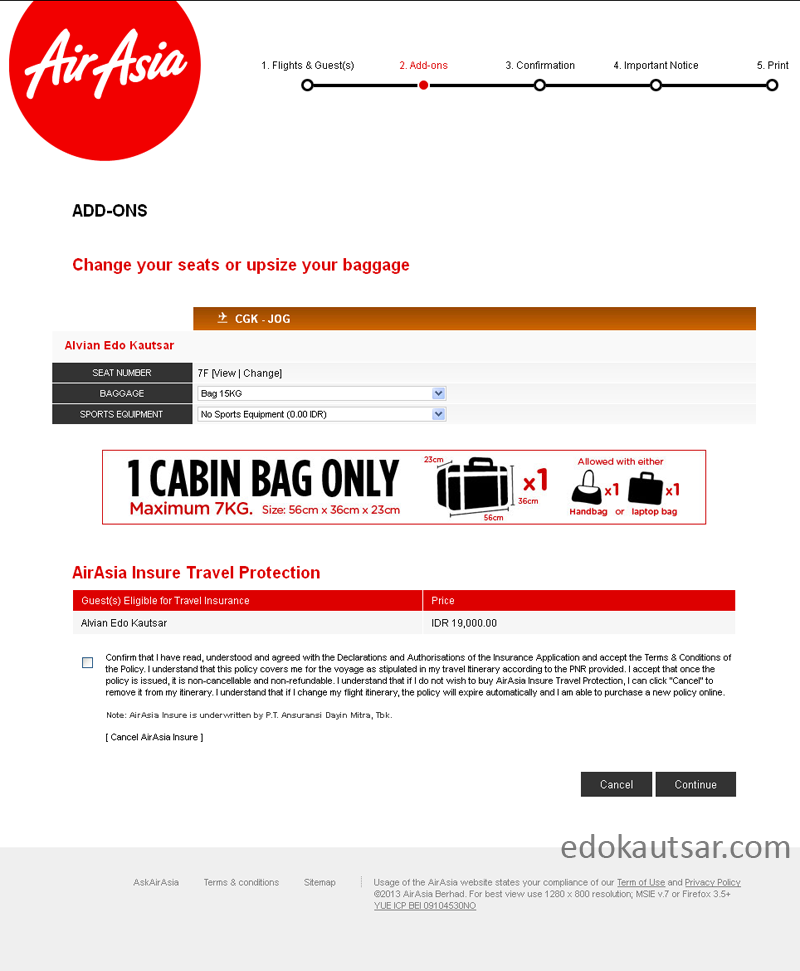 Web check in AirAsia online booking
