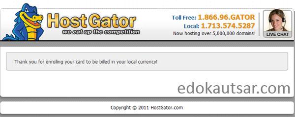 cara daftar hosting hostgator