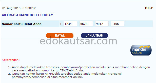 Daftar Mandiri Clickpay
